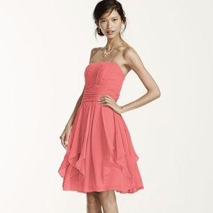 Davids Bridal Bridesmaid Dress F14169 Coral Reef 4